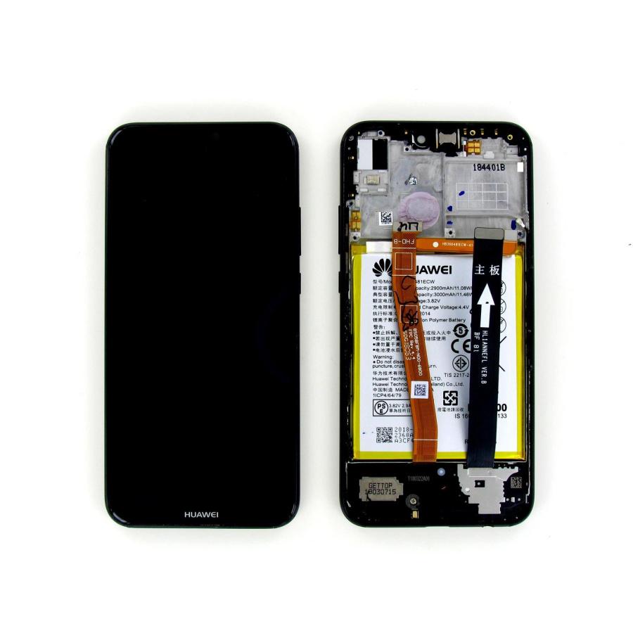 Original Huawei P20 Lite Display LCD Rahmen Gehäuse Schwarz Guter Zustand