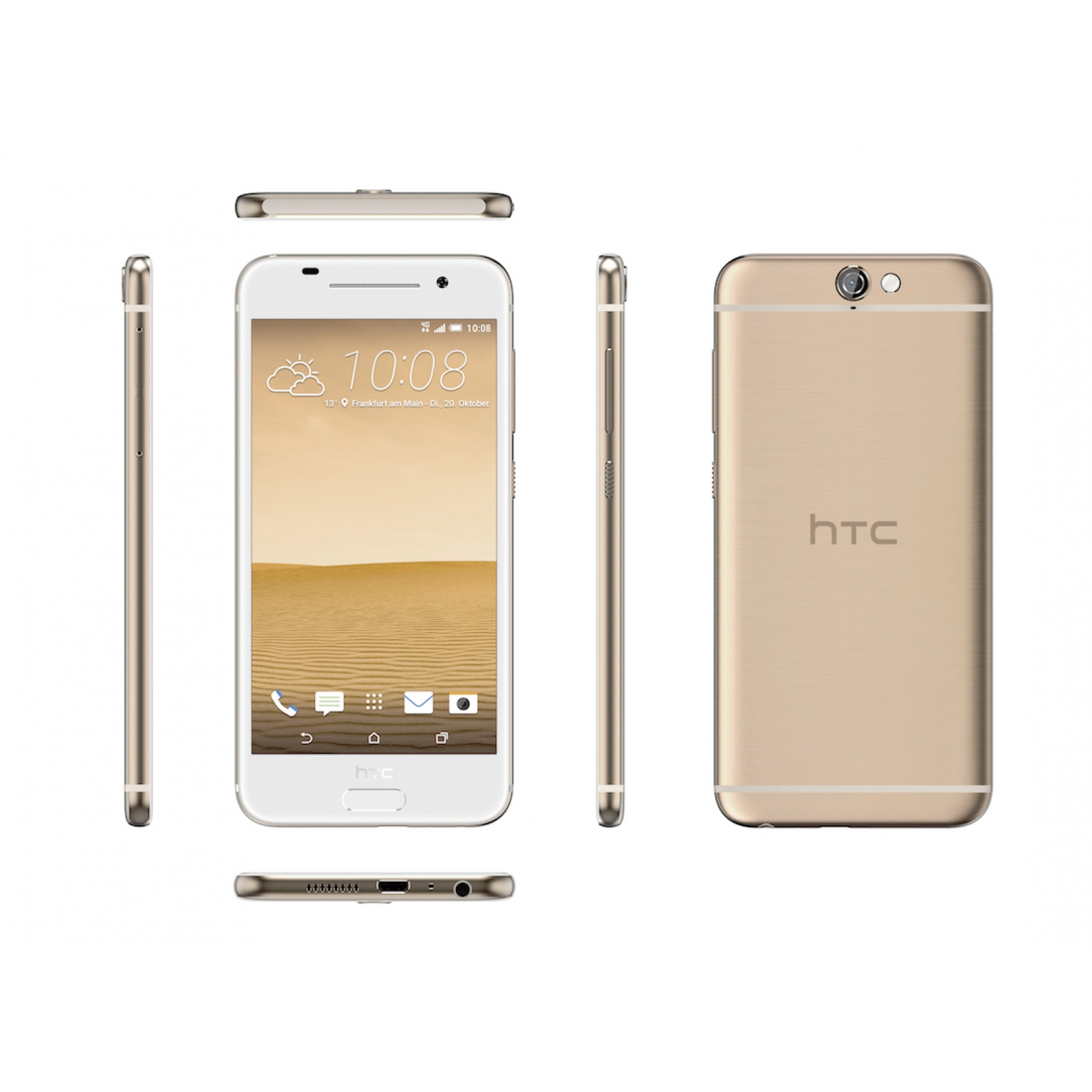 HTC One A9 Topaz Gold 16GB Android 7 Smartphone Neu OVP