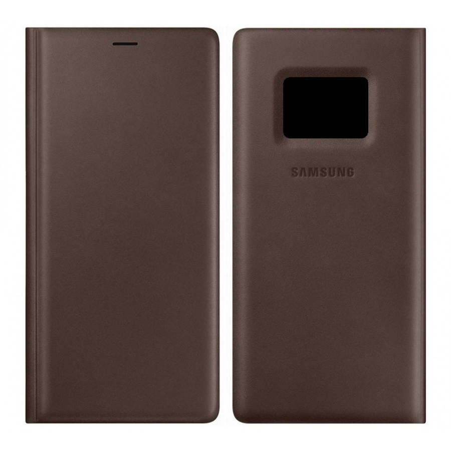 Original Samsung Galaxy Note 9 Leather Wallet Cover Leder Schutzhülle Braun OVP