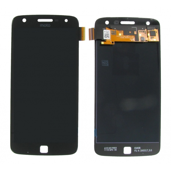 Original Motorola Moto Z Play LCD Display Flex Schwarz Neu
