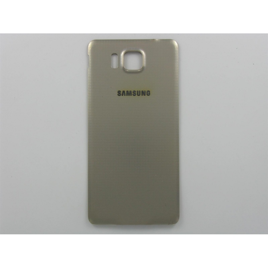 Original Samsung Galaxy Alpha G850F Akkudeckel Backcover Gold Gebraucht