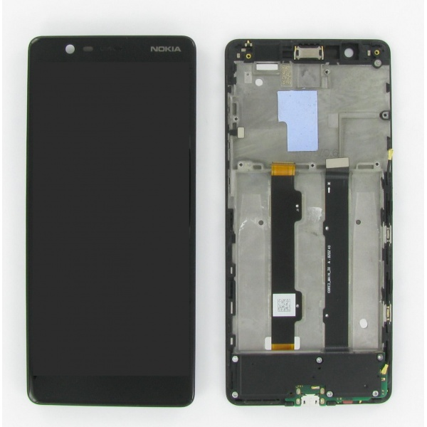 Original Nokia 5.1 TA-1061 Display LCD Rahmen Glas...