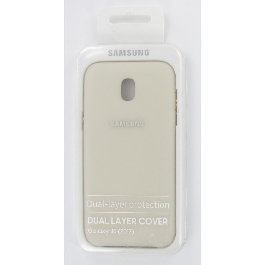 Original Samsung Galaxy J5 (2017) Dual Layer Cover Schutzhülle Gold OVP