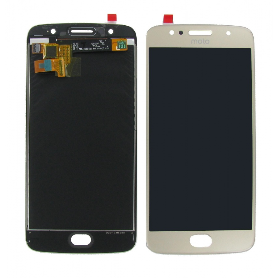 Original Motorola Moto G5s XT1794 XT1793 Display LCD Touch Screen Glas Gold