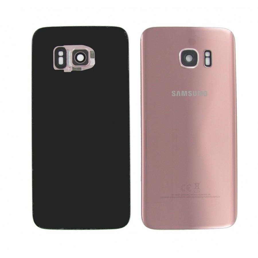 Original Samsung Galaxy S7 Edge SM-G935F Akkudeckel Backcover Pink Akzeptabel