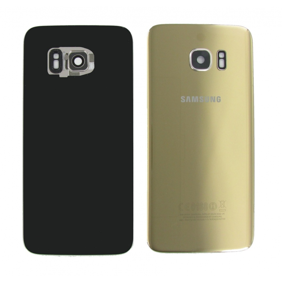 Original Samsung Galaxy S7 Edge SM-G935F Akkudeckel Backcover Gold Akzeptabel