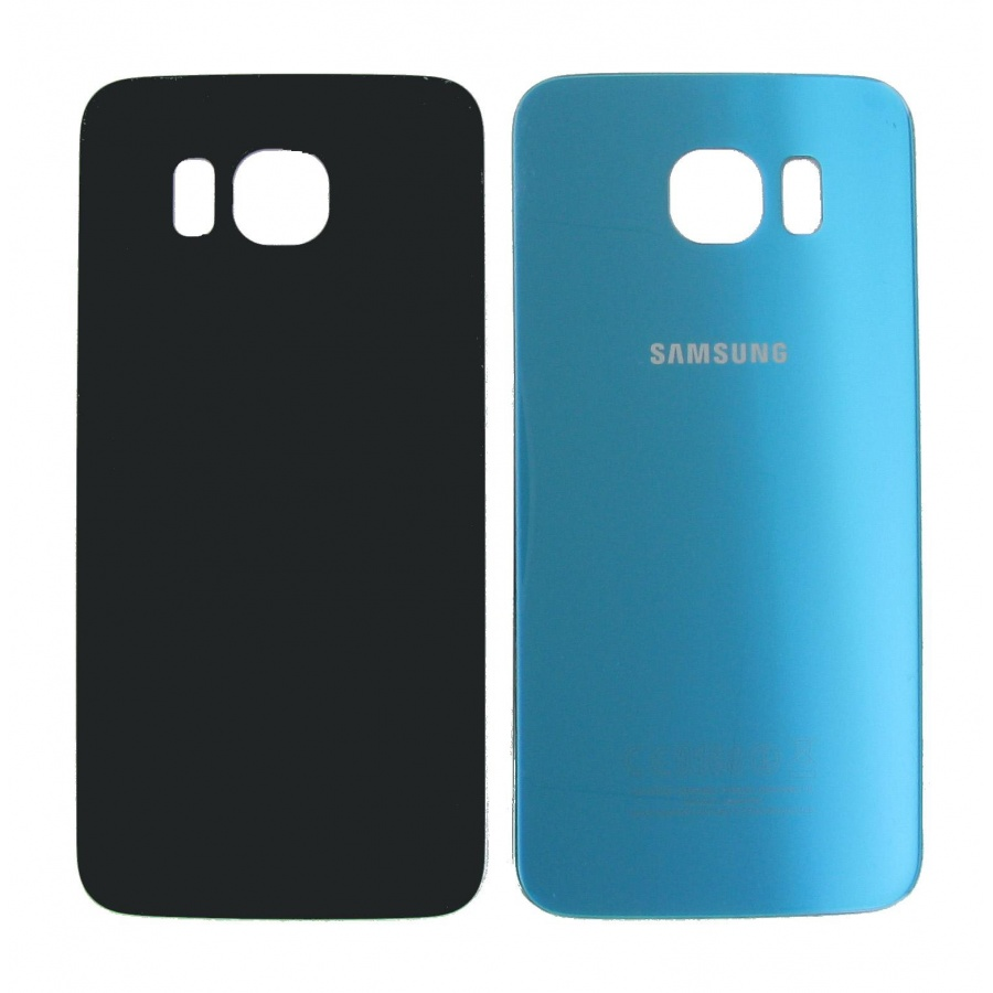 Original Samsung Galaxy S6 SM-G920F Akkudeckel Backcover Blau Blue Akzeptabel