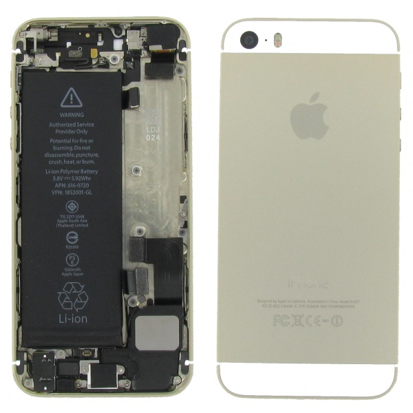 Apple iPhone 5S Akkudeckel Gold Backcover Sehr Guter...