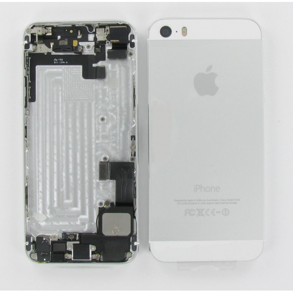 Apple iPhone 5 Akkudeckel Silver Silber Backcover Sehr...