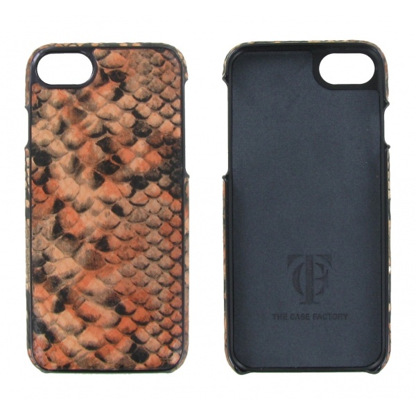 The Case Factory Apple iPhone 6/6S/7/8 Ledertasche Python...