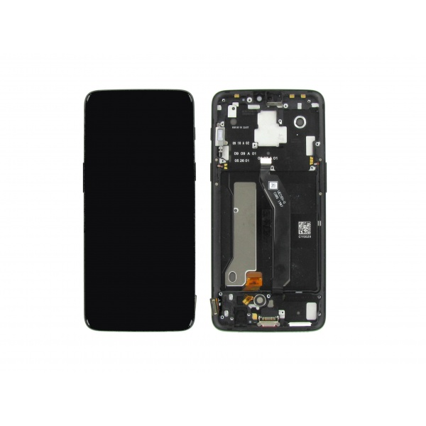 Original OnePlus 6 LCD Display Gehäuse Flex Schwarz Black...