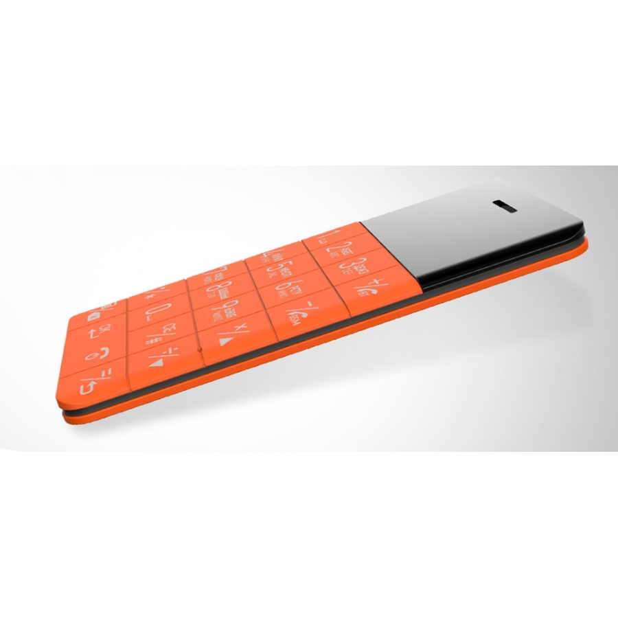 Elari CardPhone 2G 1GB, 1.10, Single SIM Kreditkartengröße Orange B-Ware OVP