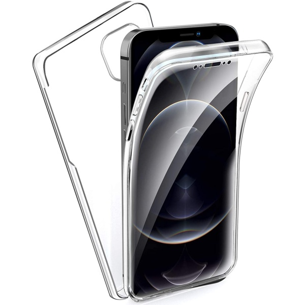 iPhone 12 Pro Max Full Cover Silikon 6.7 Transparent...
