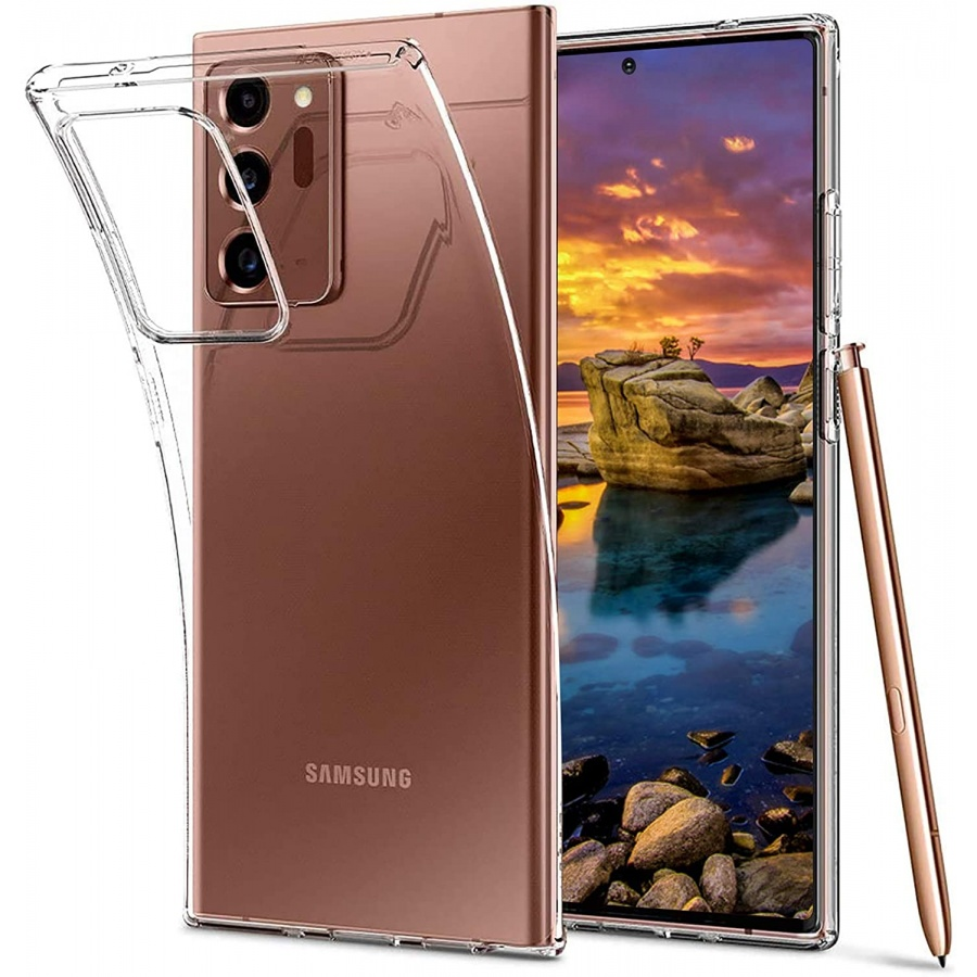 Wisam® Samsung Galaxy Note 20 Plus / Note 20 Ultra Silikon Clear Case Schutzhülle Hülle Transparent