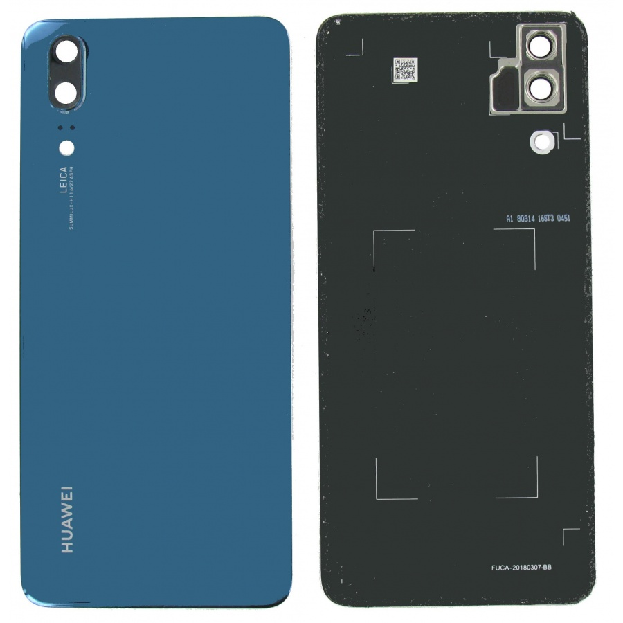 Original Huawei P20 EML-L29 Akkudeckel Backcover Midnight Blue Gut