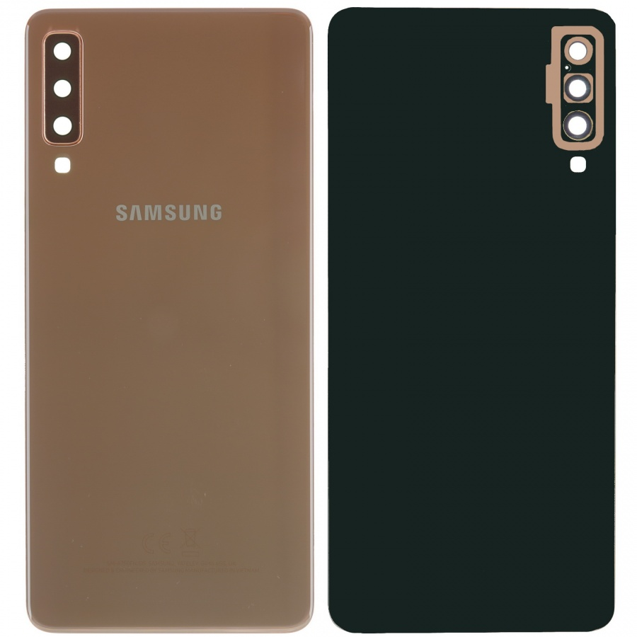 Original Samsung Galaxy A7 2018 A750F/DS Akkudeckel Backcover Gold Akzeptabel