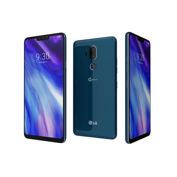 LG G7 THINQ G710EM 64GB Moroccan Blue Blau Android...