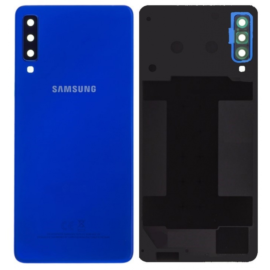Original Samsung Galaxy A7 2018 A750F/DS Akkudeckel Backcover Blau Akzeptabel