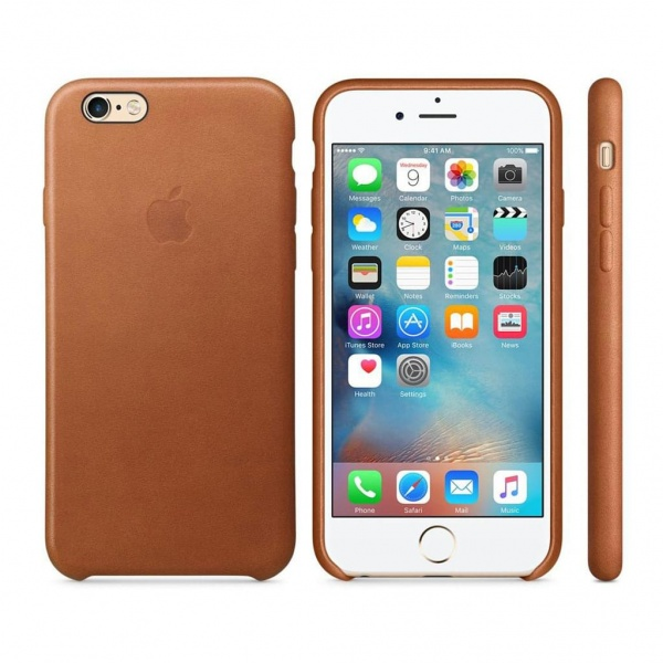 Original Apple iPhone 6 / 6S Leather Case MKXT2ZM/A...