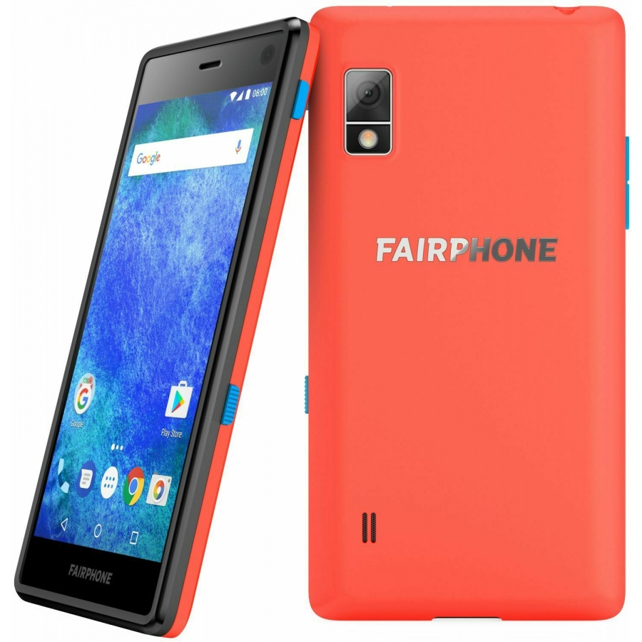 Fairphone 2 Version 2017 Dual Sim Android Smartphone Korallrot Guter Zustand White Box