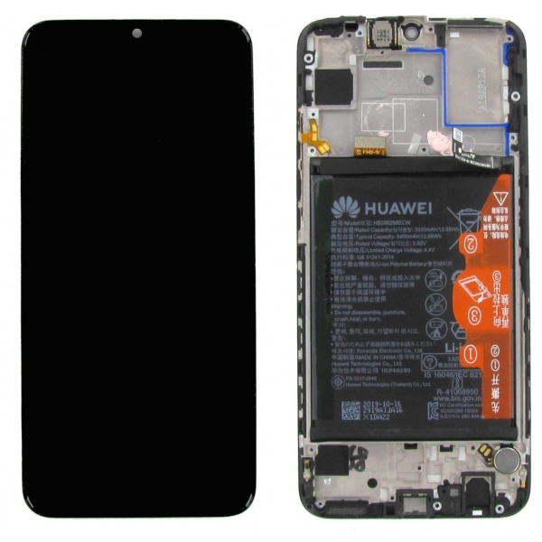 Original Huawei P Smart 2019 Display LCD Rahmen Akku...