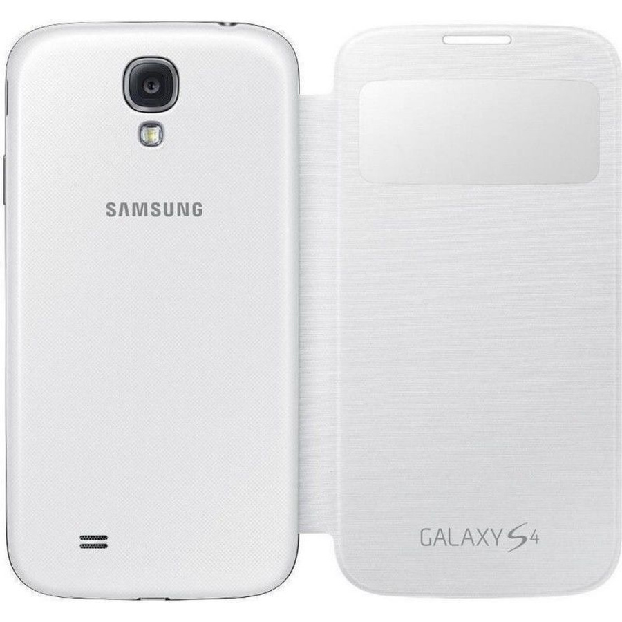 Original Samsung Galaxy S4 i9505 S-View Cover Flip Case EF-CI950 Weiß White Neu