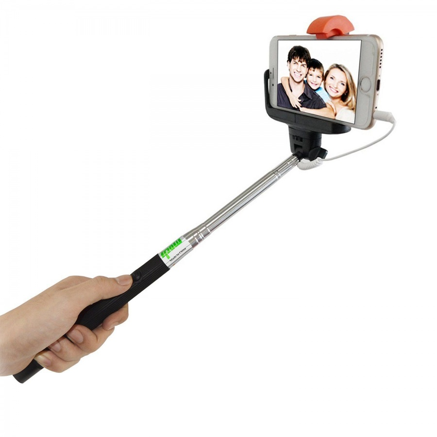 Selfie Stick Stab Kabel Schwarz Samsung Galaxy Android Apple iPhone  Z07-5(Plus)