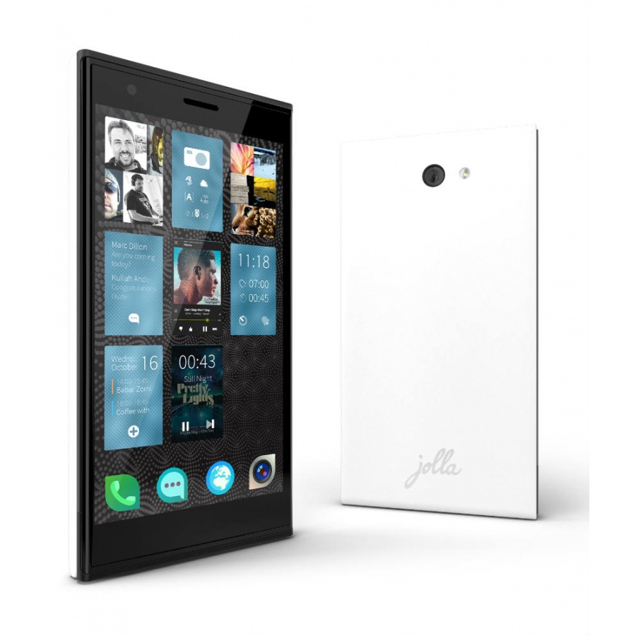 Jolla Jollaphone White 16GB Sailfish OS JP-1301 Akzeptabel in White Box