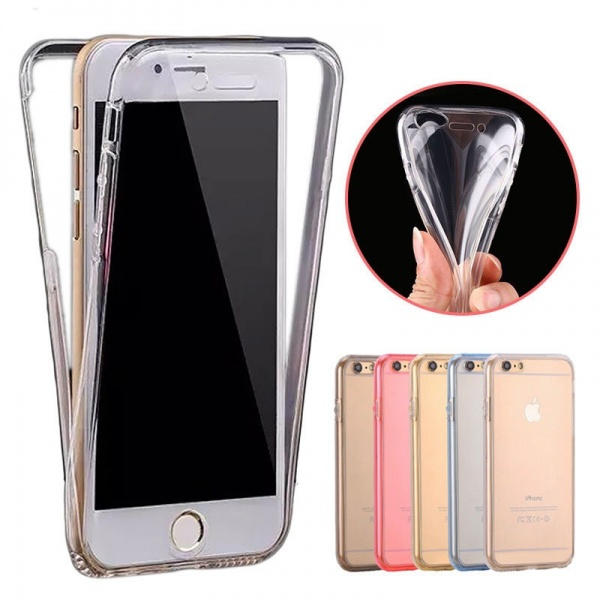iPhone 7/8 Full Cover Silikon 4,7 Transparent TPU 360°...