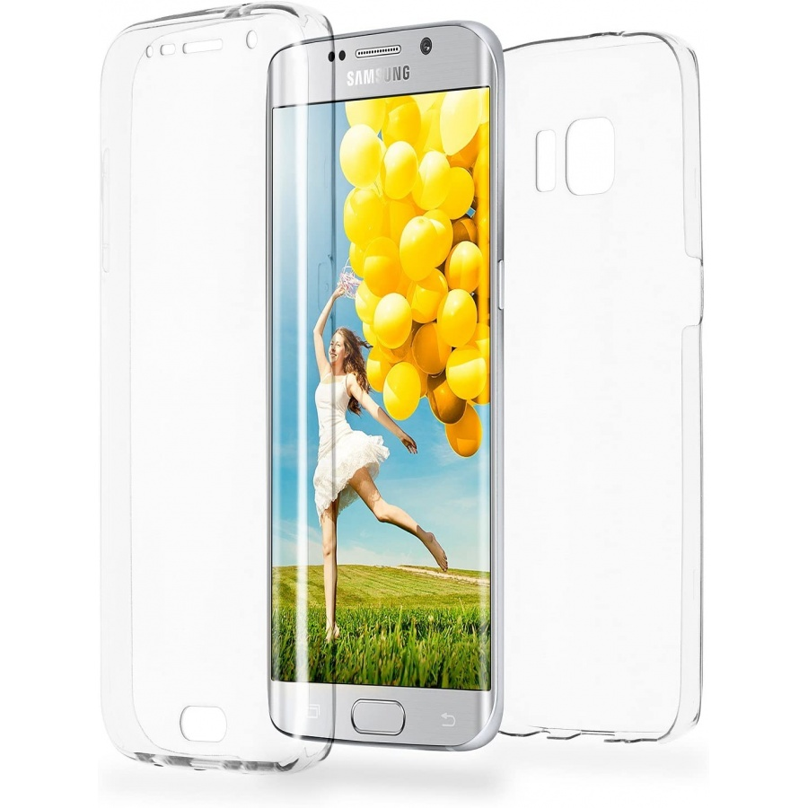 Samsung Galaxy S6 Edge Full Cover Silikon Transparent TPU 360° Hülle