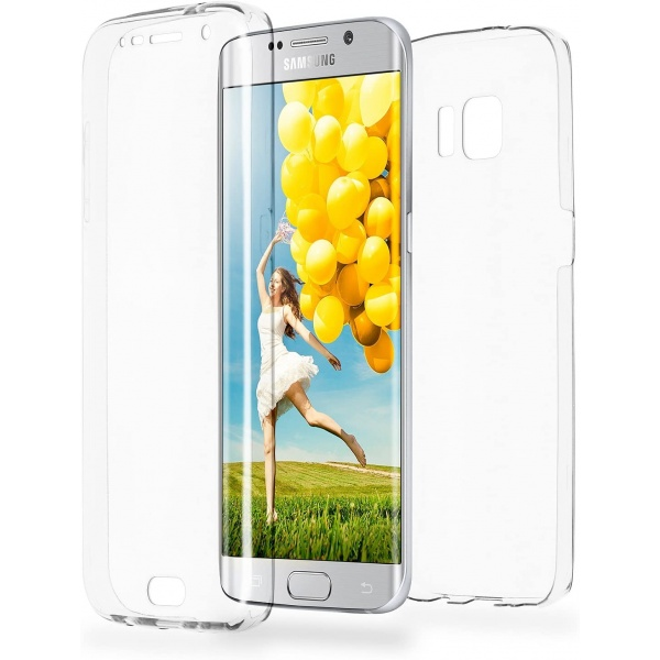 Samsung Galaxy S6 Edge Full Cover Silikon Transparent TPU...