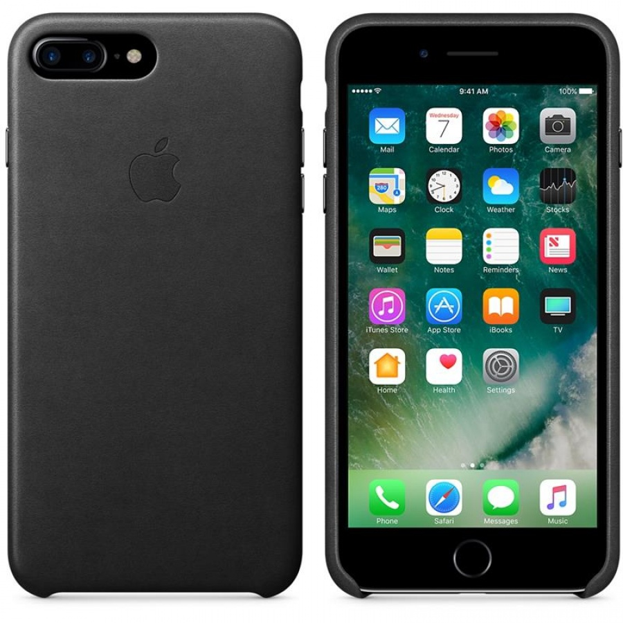 Apple iPhone 7 Plus / 8 Plus Silikon Case Hülle Schutzhülle Black