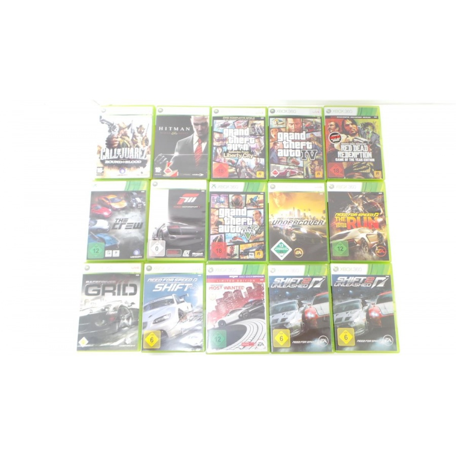 Microsoft Xbox 360 - 15 Spiele Posten GTA 5 Forza Need For Speed Red Dead Hitman