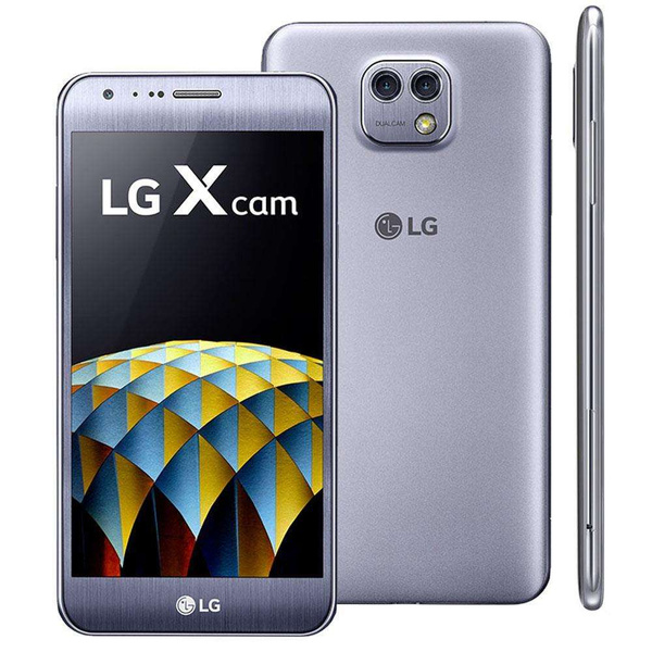 LG X Cam K580 16GB Android Smartphone Titan Silver Sehr...