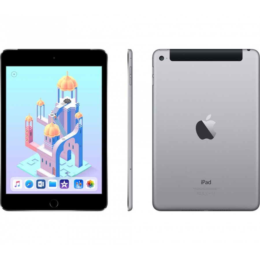 Tidssvarende Apple iPad Mini 4 Wi-Fi + Cellular 4G 32GB Space Gray Neu in Vodafone YJ-54