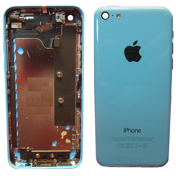 100 % Original Apple iPhone 5C Akkudeckel Blau...