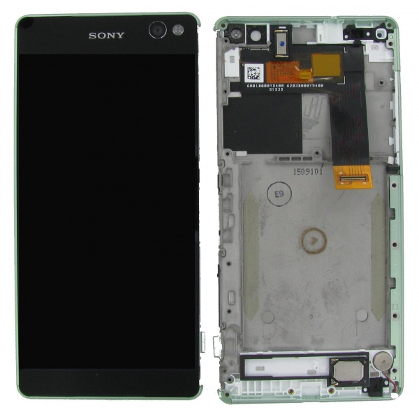 Original Sony Xperia C5 Ultra Display LCD Gehäuse Grün...