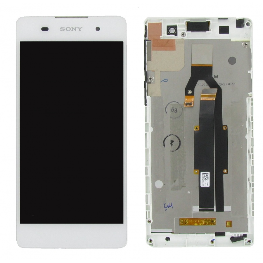 100% Original Sony Xperia E5 F3311 Display LCD Rahmen Weiß Guter Zustand