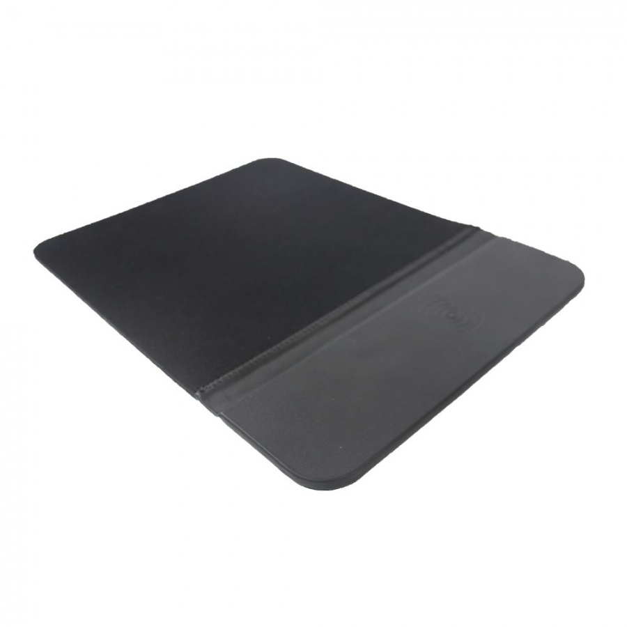 Wisam® Wireless Charger Ladefunktion Mauspad Schwarz Matte Maus Mousepad PC 30x22cm