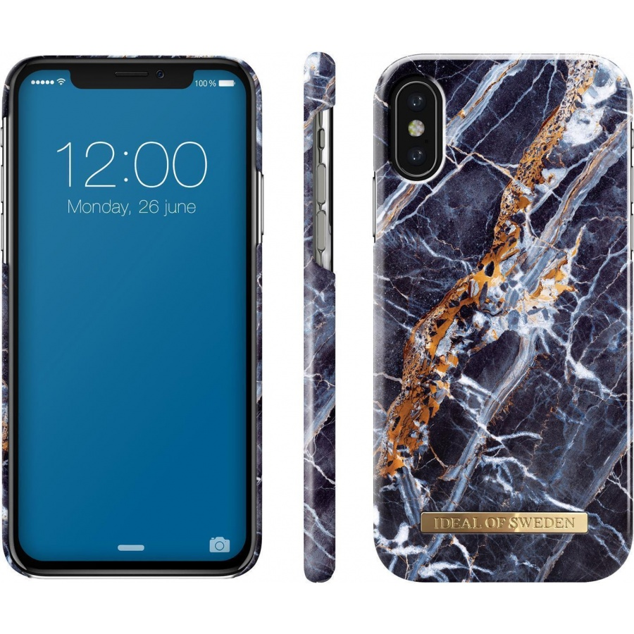 iDEAL OF SWEDEN Apple iPhone X/XS Schutzhülle Case Midnight Blue Marble