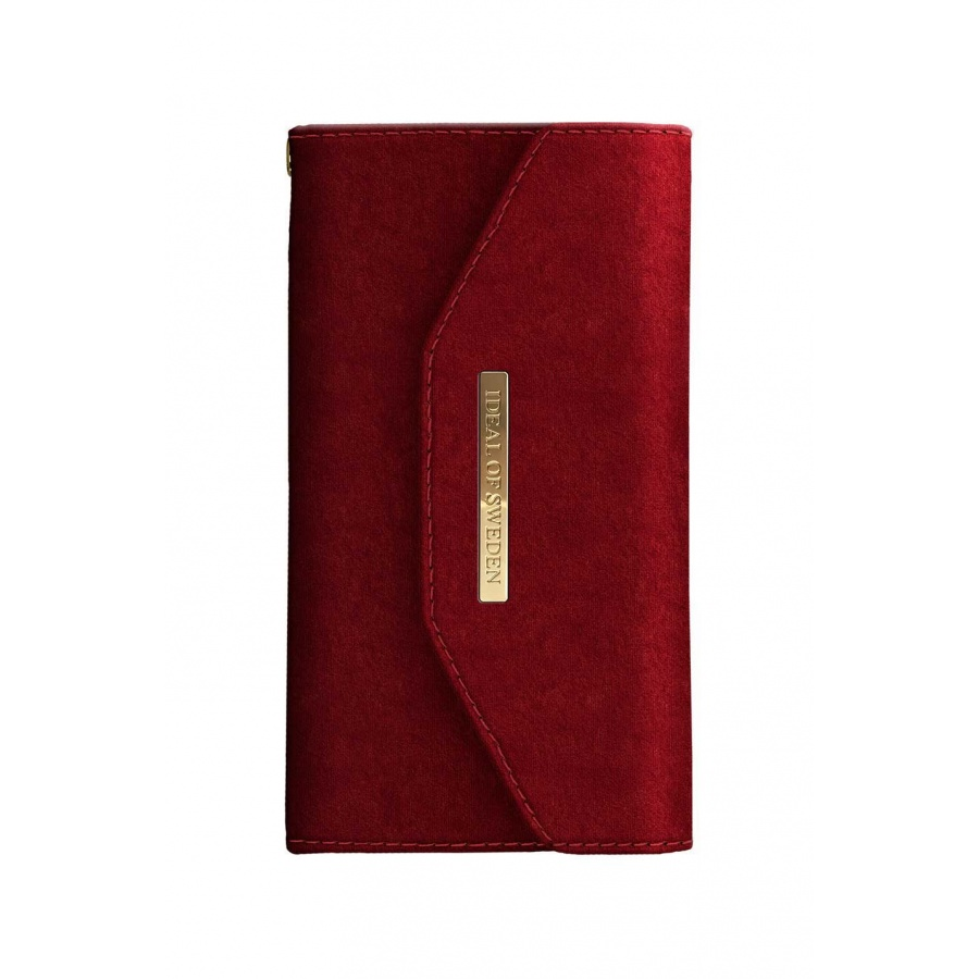 iDEAL OF SWEDEN Apple iPhone X Mayfair Clutch Velvet Schutzhülle Red