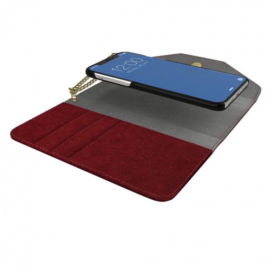 iDEAL OF SWEDEN Apple iPhone 8/7/6/6S Mayfair Clutch Velvet Schutzhülle Red