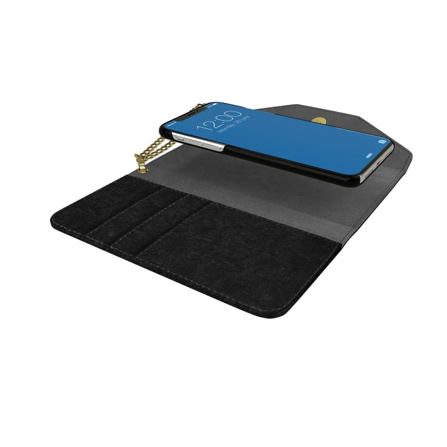 iDEAL OF SWEDEN Apple iPhone X Mayfair Clutch Velvet Schutzhülle Black