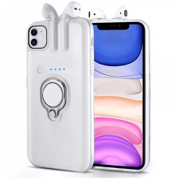 4in1 iPhone XS Max Airpods Cover Case Ladefunktion...