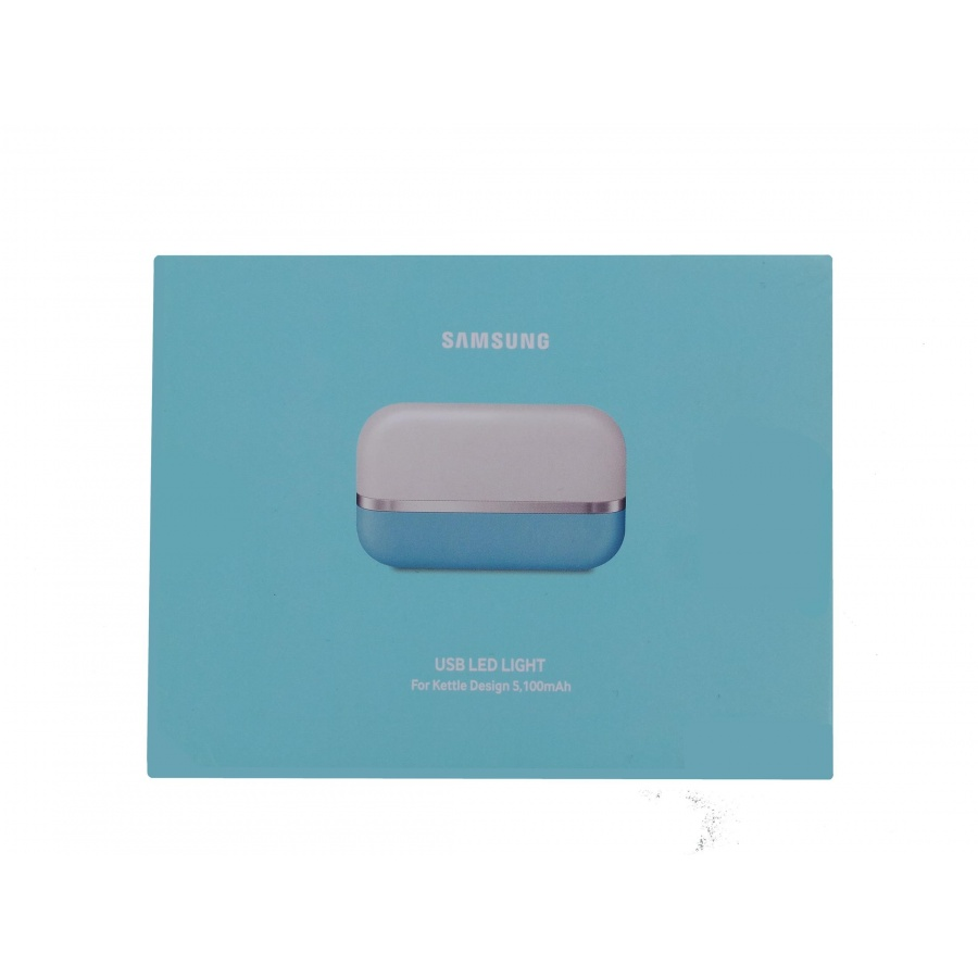 Original Samsung USB LED Light For Kettle Design 5.100mAh Hellblau